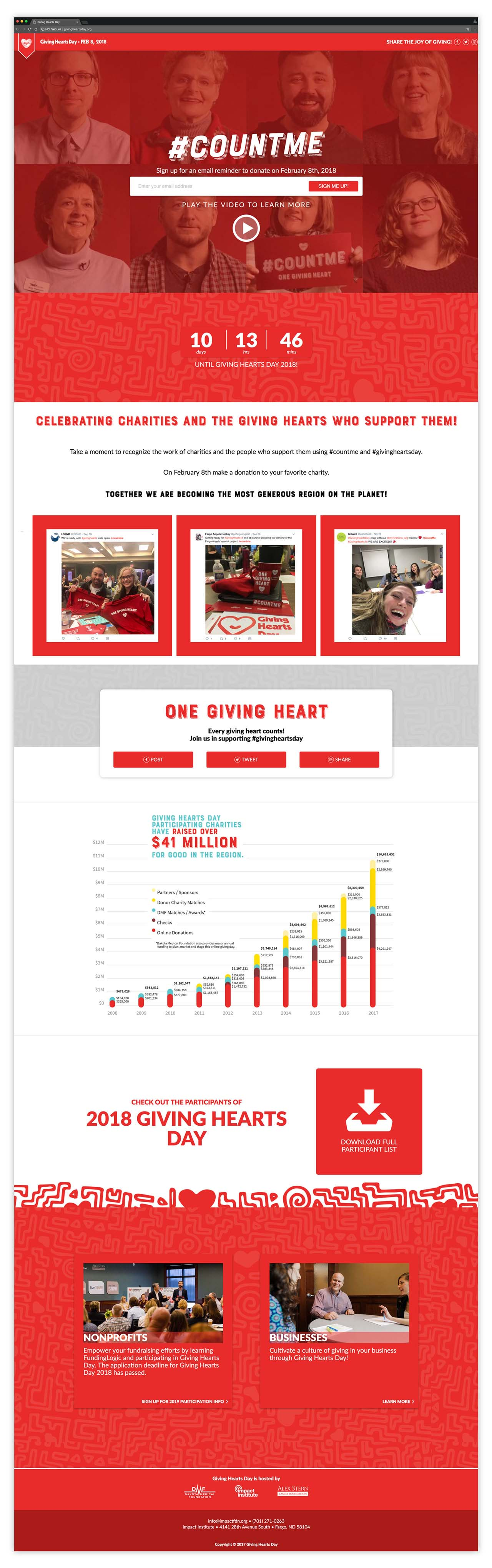 Final Giving Hearts Day one-page site