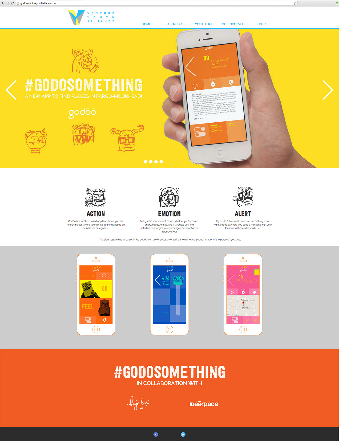 Screen capture of Godoo website
