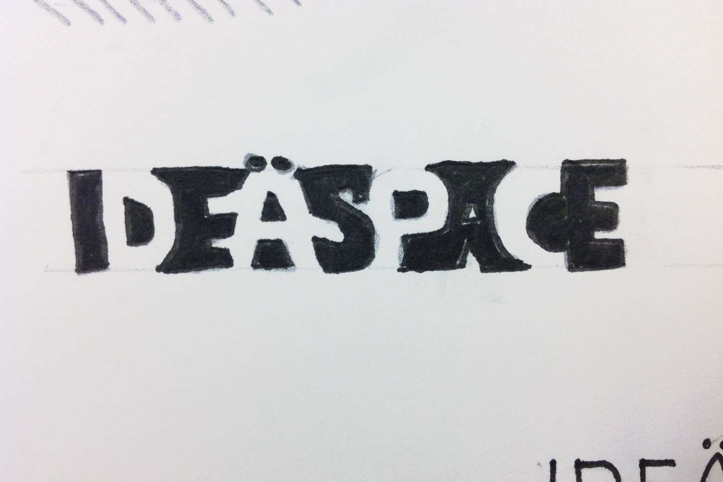 IDeaspace logo concept in black and white