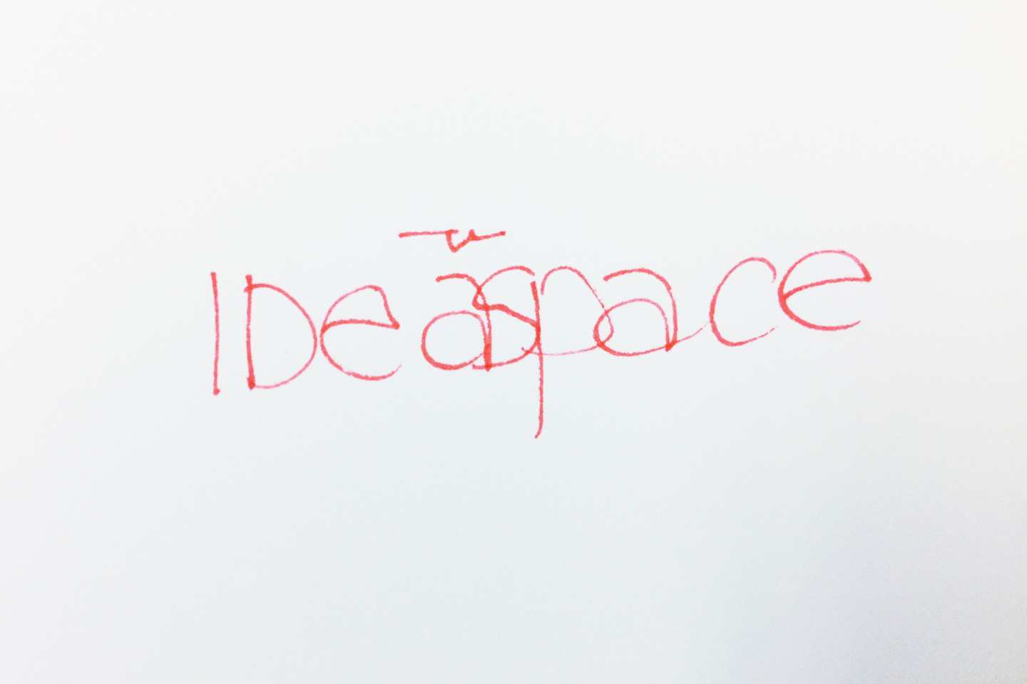 IDeaspace handwritten in red
